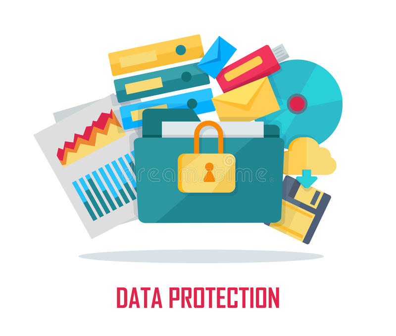 Data Protection Banner stock illustration