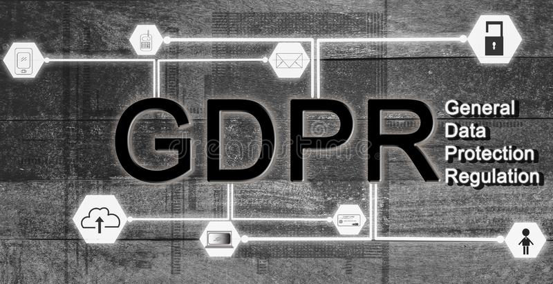 Data protection concept GDPR EU, and safety of using the information of people,Use Internet, E-commerce business, advertising and stock photos