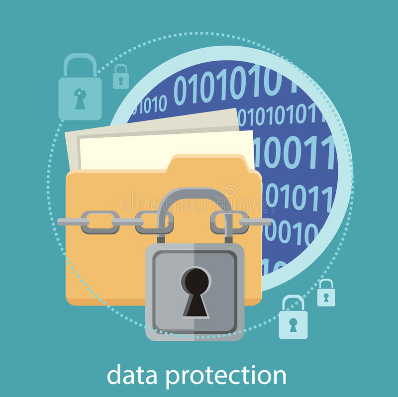 Data protection concept royalty free illustration
