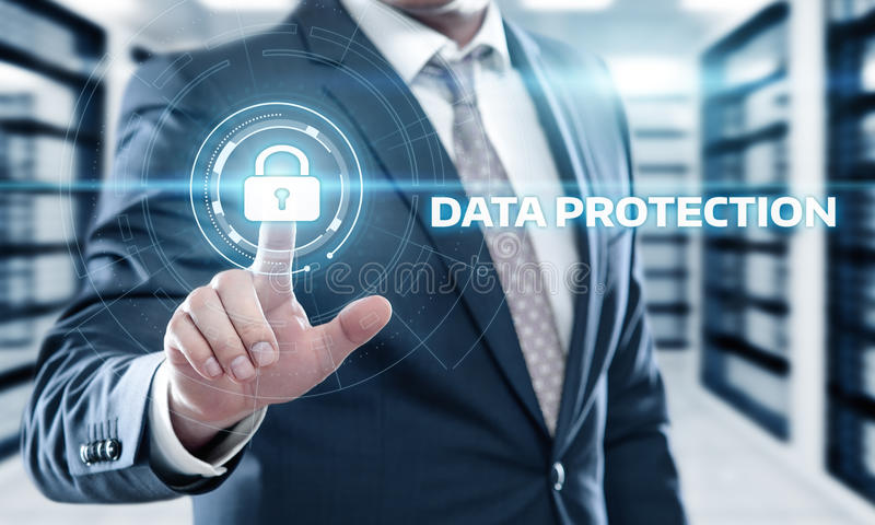Data protection Cyber Security Privacy Business Internet Technology Concept stock image
