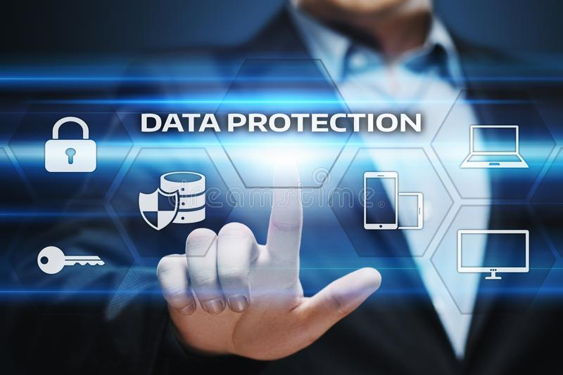 Data protection Cyber Security Privacy Business Internet Technology Concept royalty free stock photography