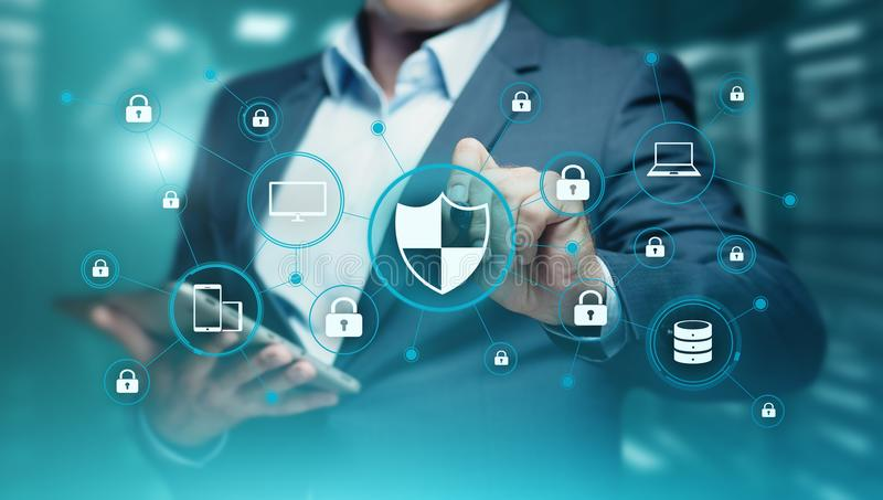 Data protection Cyber Security Privacy Business Internet Technology Concept royalty free stock photo