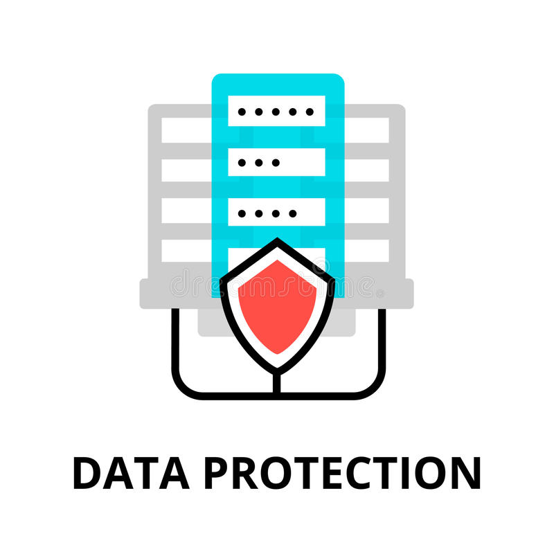 Data protection icon vector illustration
