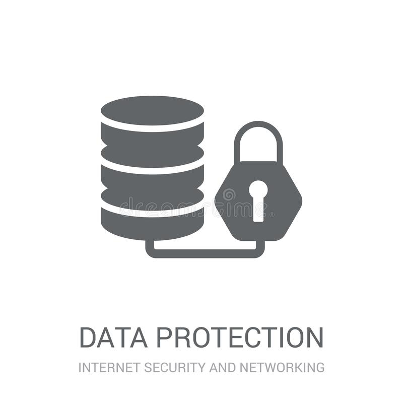 Data protection icon. Trendy Data protection logo concept on white background from Internet Security and Networking collection. Suitable for use on web apps royalty free illustration