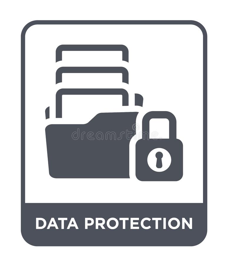data protection icon in trendy design style. data protection icon isolated on white background. data protection vector icon simple stock illustration