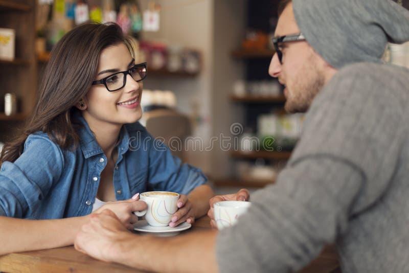 Data przy kawiarnią fotografia royalty free