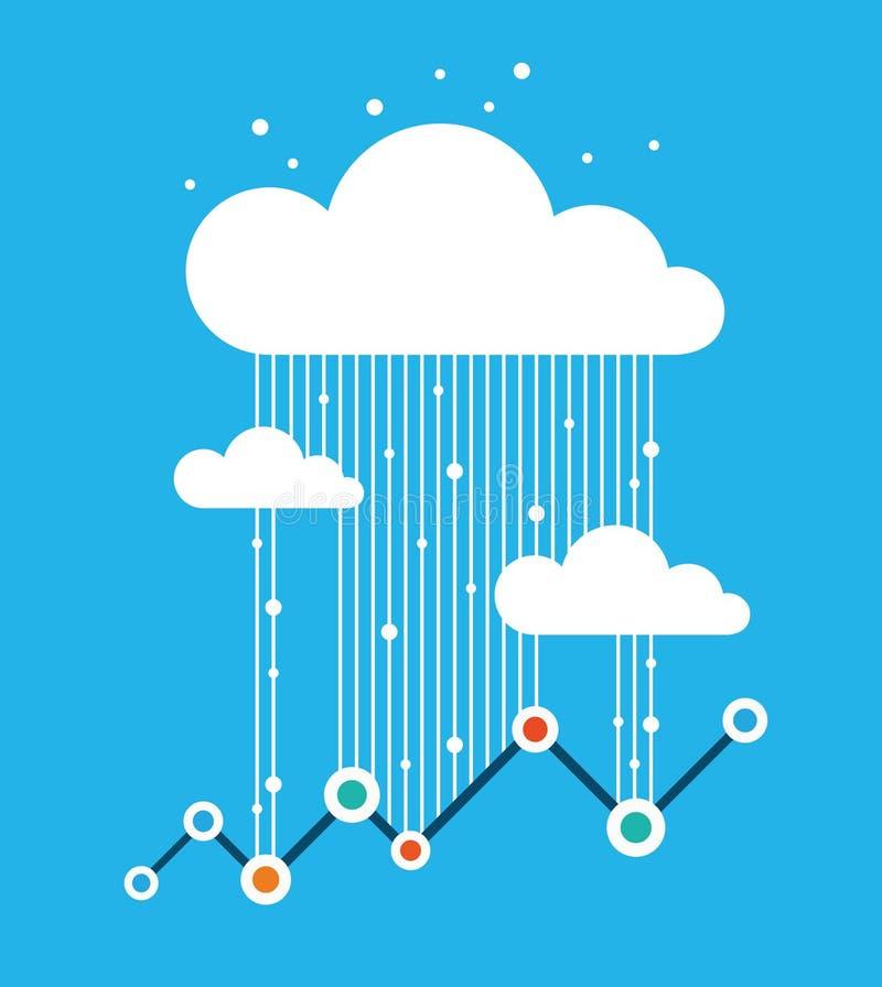 Data rain, data traffic royalty free illustration