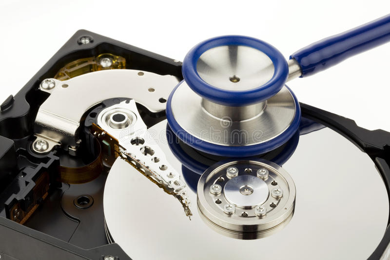 Data recovery. After computer crash. Recovery disk stock images