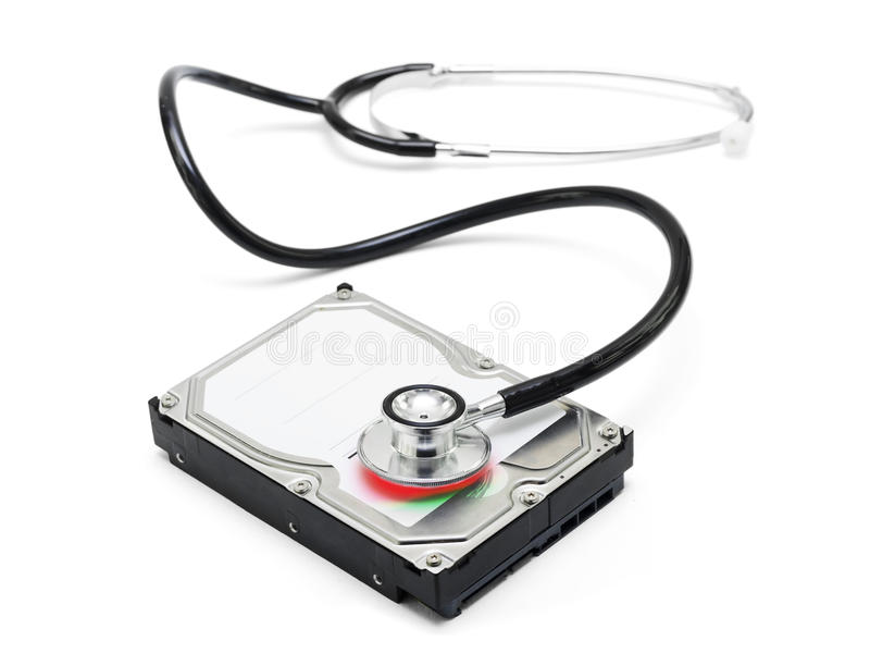 Download Data Recovery Stethoscope And Hard Drive Disc Stock Image - Image of find, assistance: 26077637