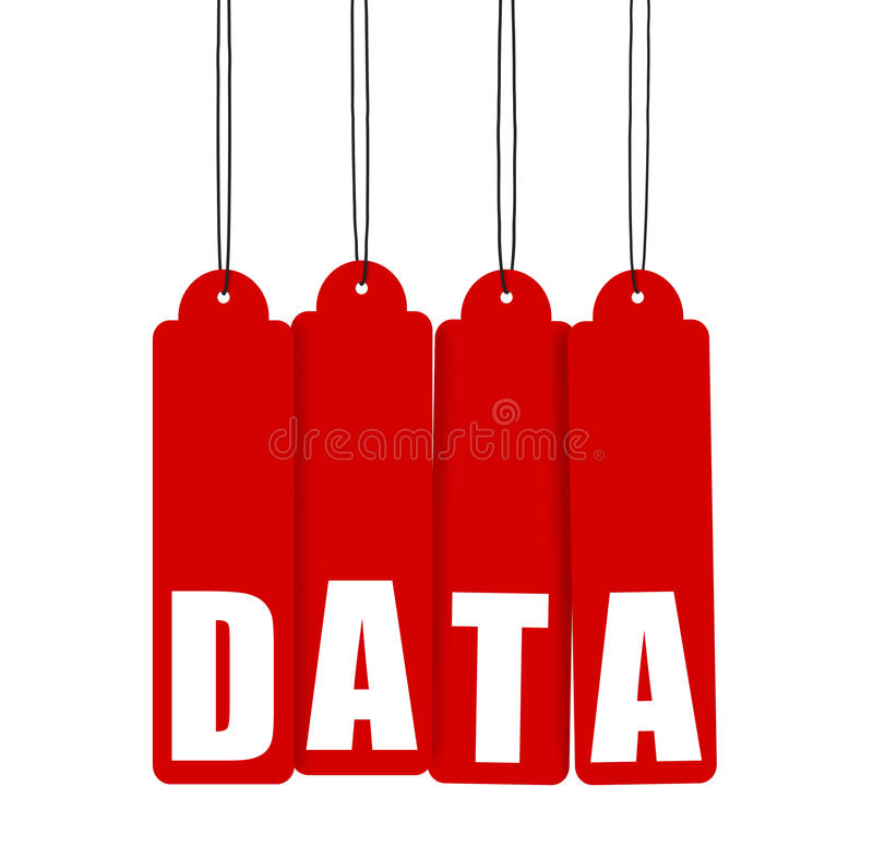 Download Data, Red Hanging Tags stock illustration. Illustration of message - 21218845
