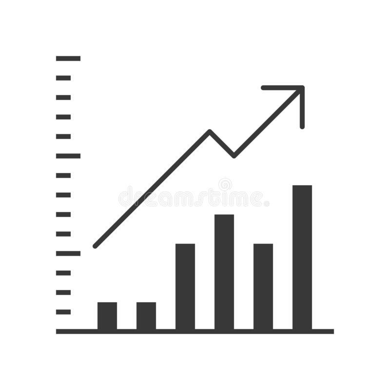 Data report vector icon, business statistic concept vector illustration