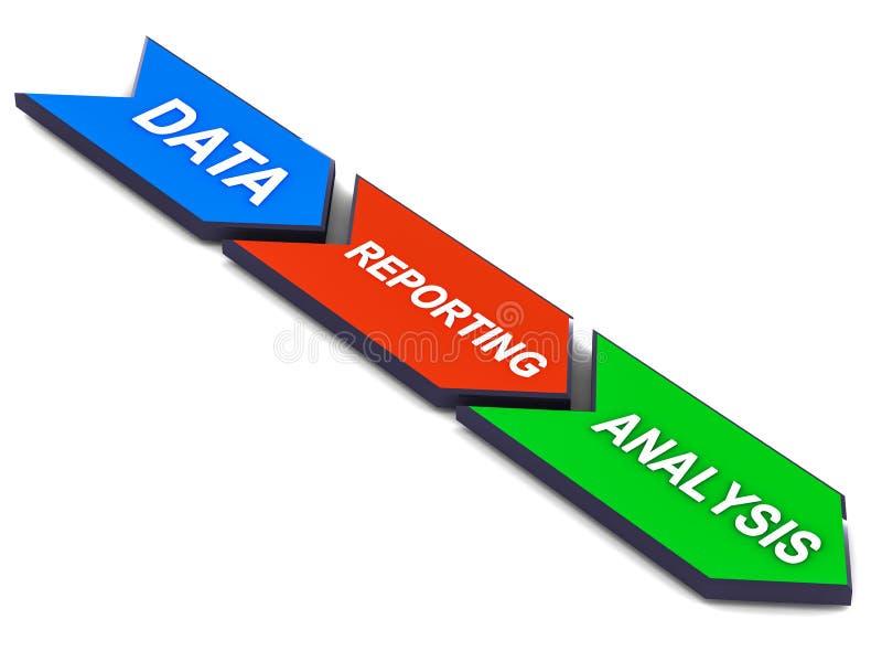 Data reporting analysis vector illustration