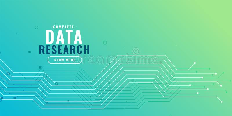 Data research background with circuit diagram. Vector royalty free illustration