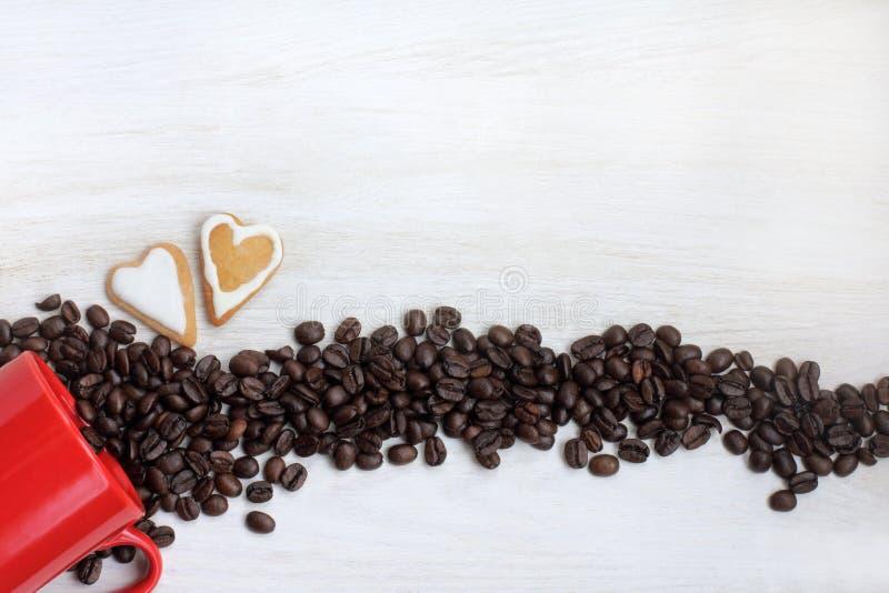Data romantica con l'aroma del caffè fotografie stock