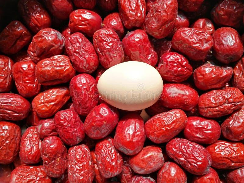 Data rossa - frutta della giuggiola immagine stock
