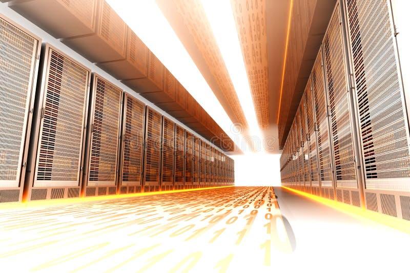 Data Rush. On the Server highway. 3d rendered Illustration vector illustration