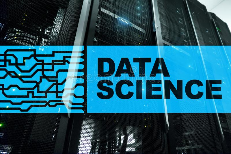 Data Science Artificial Intelligence Concept. Futuristic Supercomputer background. Data Science Artificial Intelligence Concept. Futuristic Supercomputer royalty free stock photo