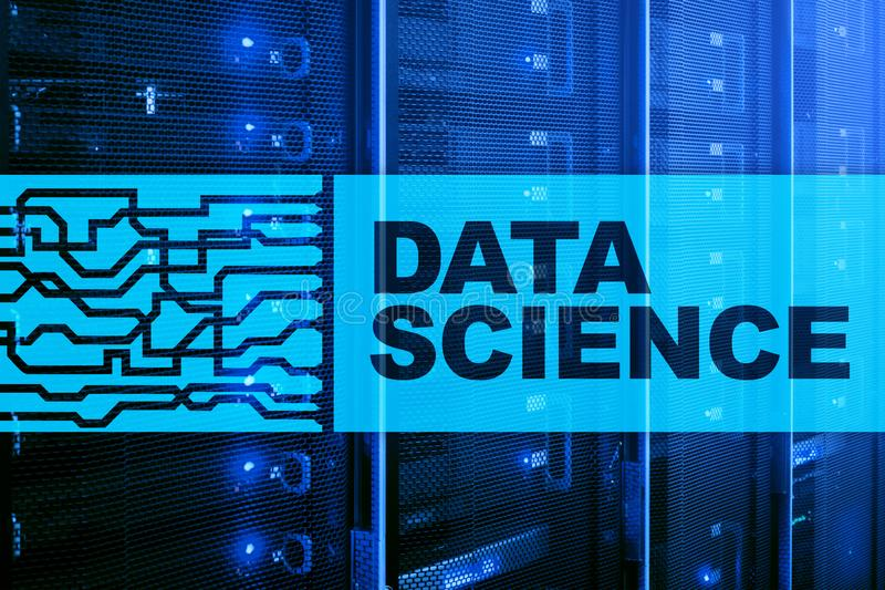 Data Science Artificial Intelligence Concept. Futuristic Supercomputer background.  royalty free stock photos