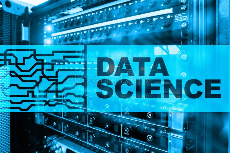 Data Science Artificial Intelligence Concept. Futuristic Supercomputer background.  stock images