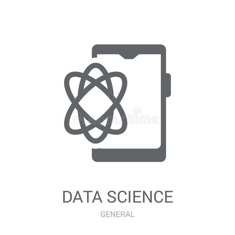Data science icon. Trendy data science logo concept on white background from General collection. Suitable for use on web apps, mobile apps and print media stock illustration