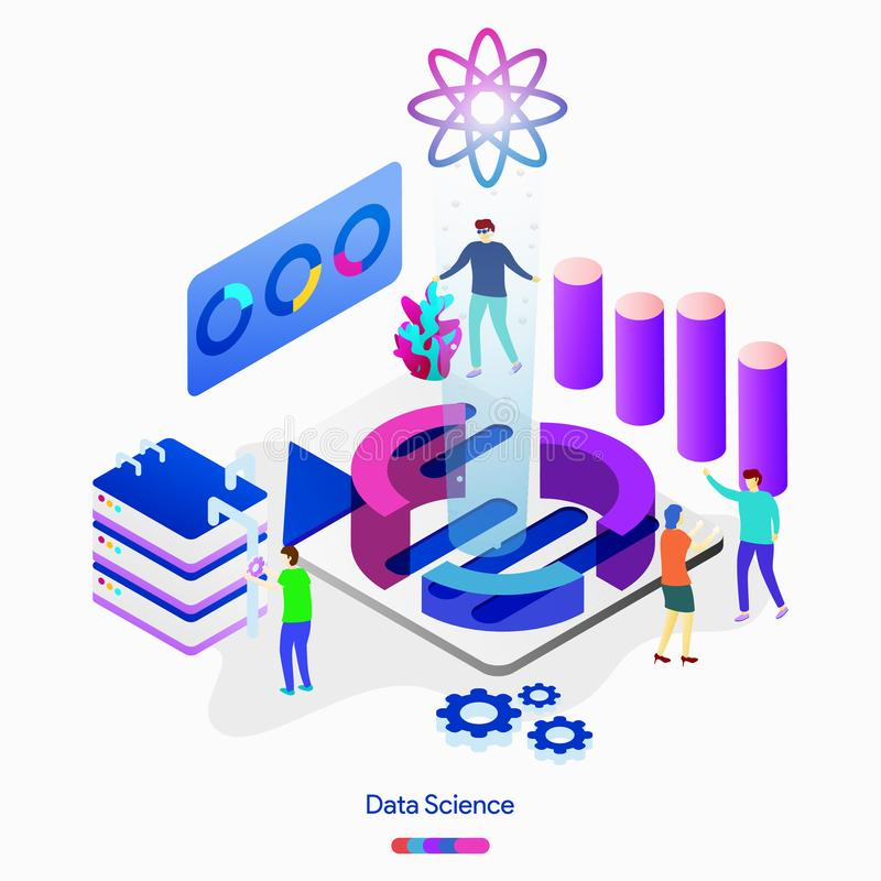 Data Science royalty free illustration