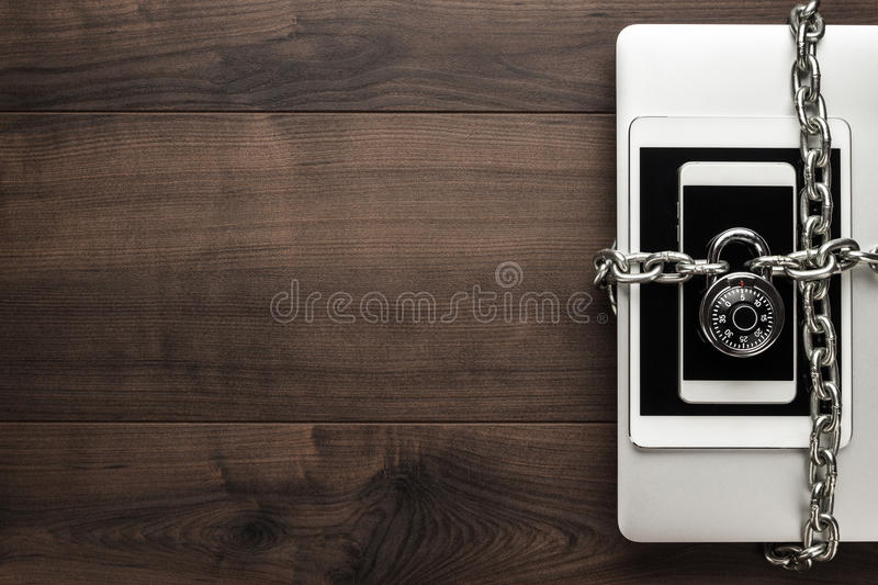 Data security concept royalty free stock photography