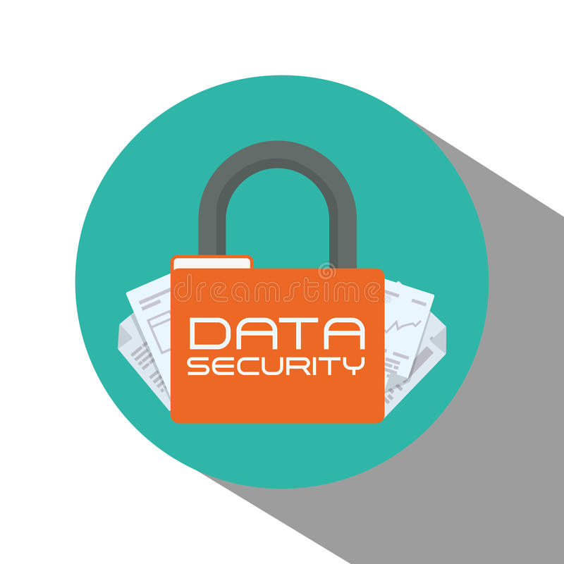 Data security design. Data security concept with system icons design, vector illustration 10 eps graphic vector illustration