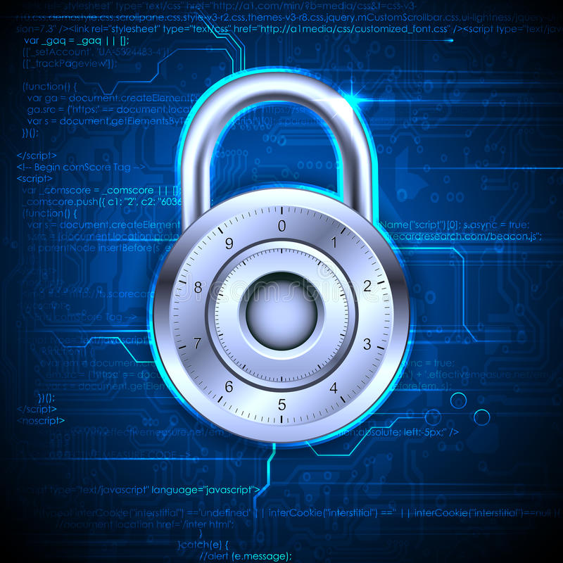 Download Data Security stock illustration. Image of hacker, futuristic - 32381797