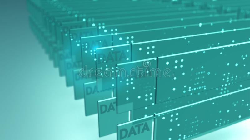 Data security technology background concept royalty free illustration