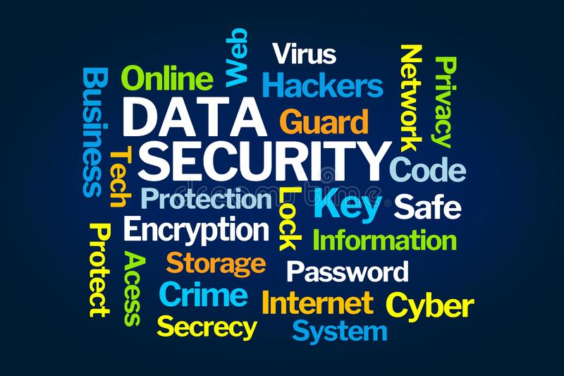 Data Security Word Cloud royalty free illustration