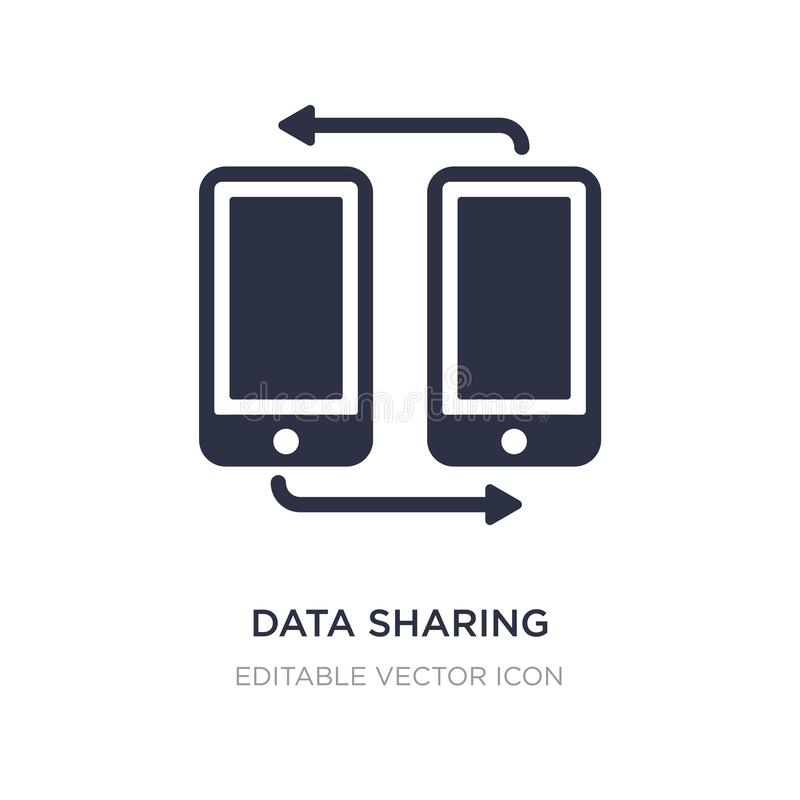 Data sharing icon on white background. Simple element illustration from Multimedia concept. Data sharing icon symbol design royalty free illustration
