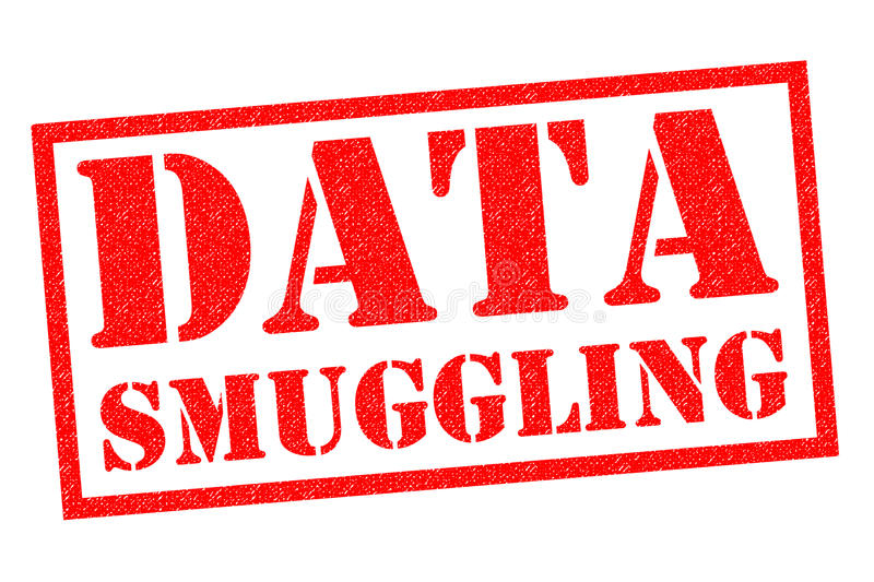 DATA SMUGGLING royalty free illustration