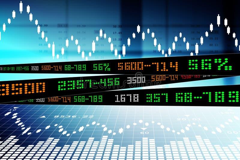 Data som analyserar i aktiemarknad vektor illustrationer