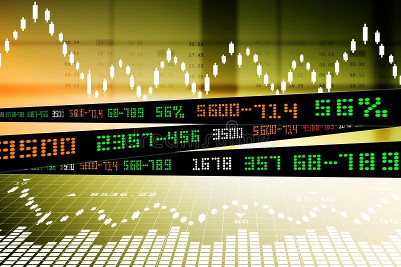 Data som analyserar i aktiemarknad stock illustrationer