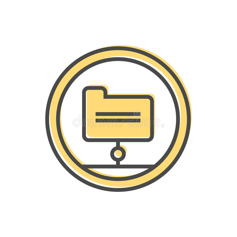 Data sorting icon with folder sign vector illustration