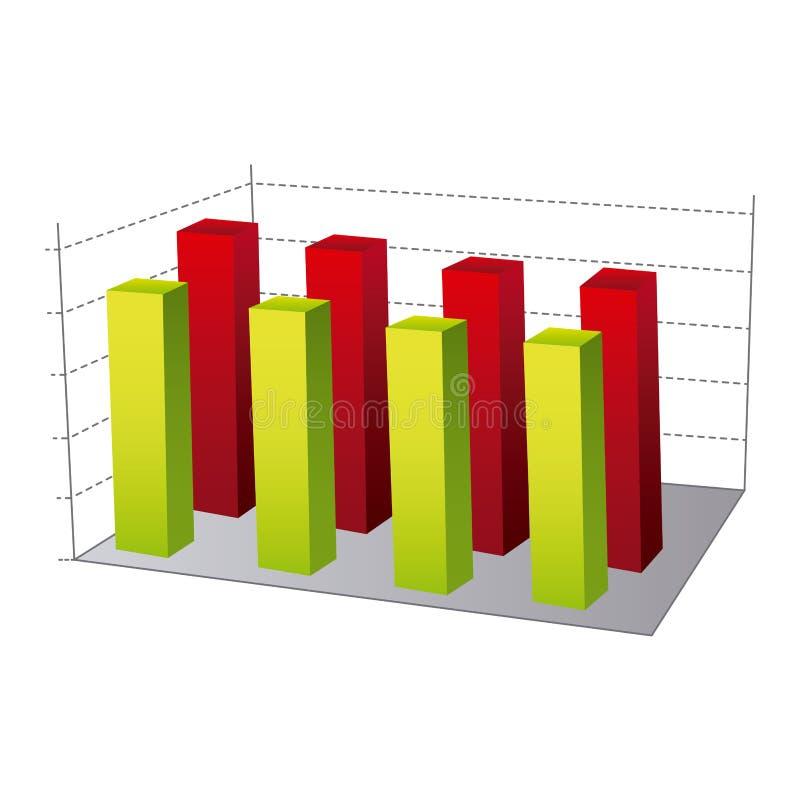 Data statistic graphics concepto. Illustration design royalty free illustration