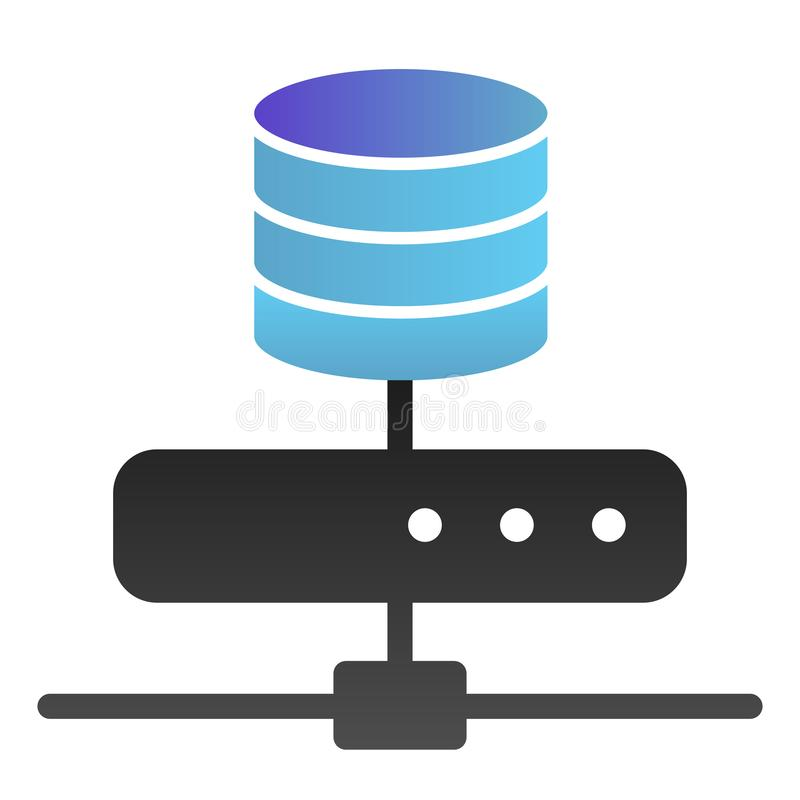 Data storage flat icon. Computer server color icons in trendy flat style. Database gradient style design, designed for vector illustration