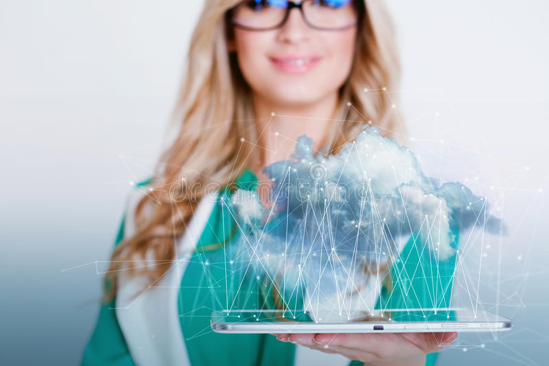 Data storage, new technology concept. Cloud storage. Data storage, the new technology concept. Cloud storage royalty free stock photo