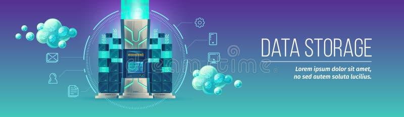 Data storage technology vector illustration royalty free illustration