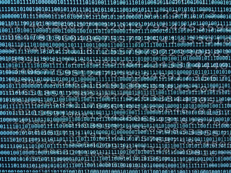 Data stream and binary numbers royalty free stock images