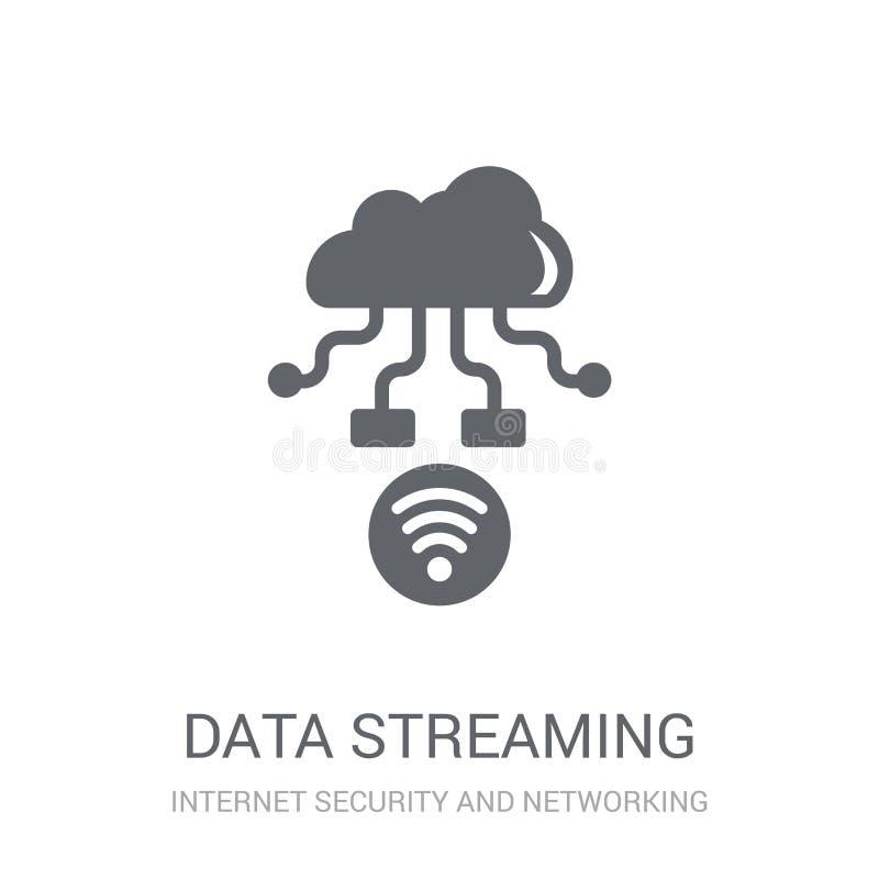 data streaming icon. Trendy data streaming logo concept on white stock illustration