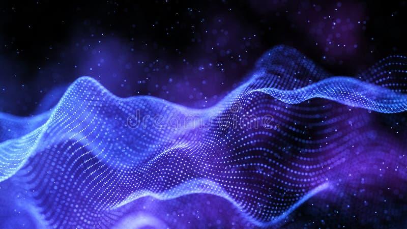 Data technology abstract futuristic illustration. Abstract technology background. Big data visualization stock illustration