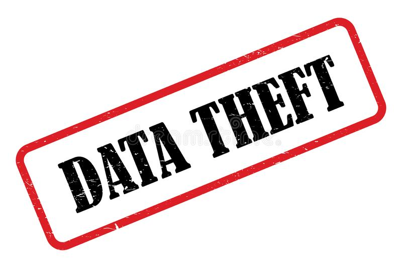 Data theft stamp stock illustration