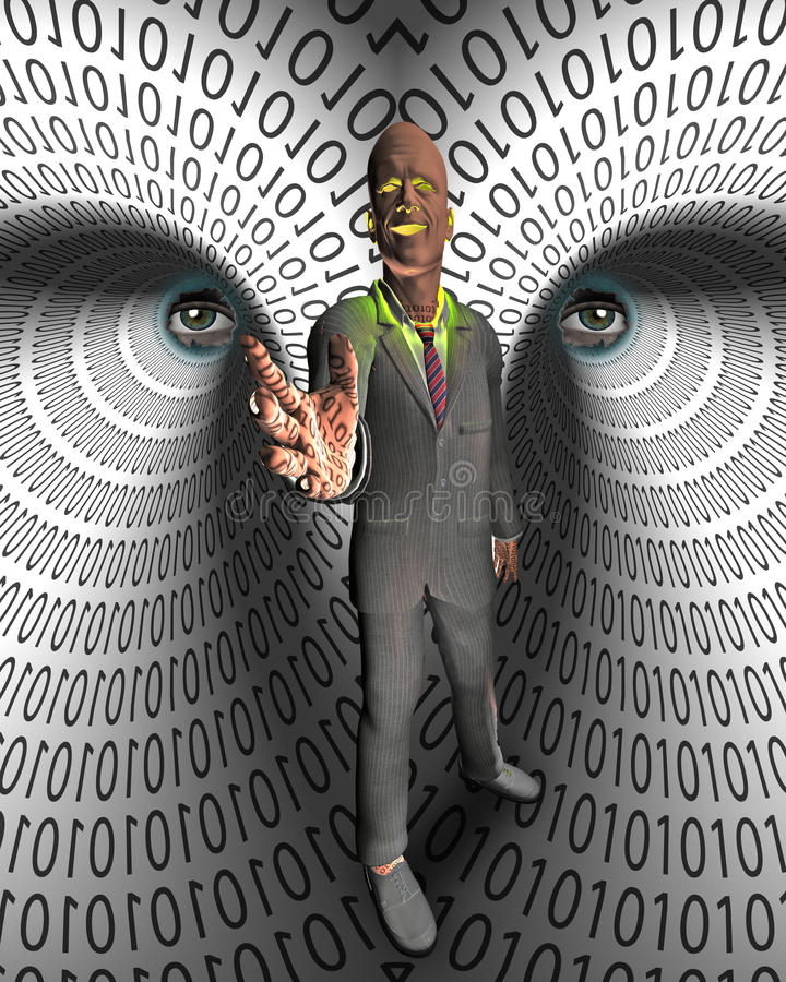 Download Data Thief stock illustration. Illustration of digits - 34678363