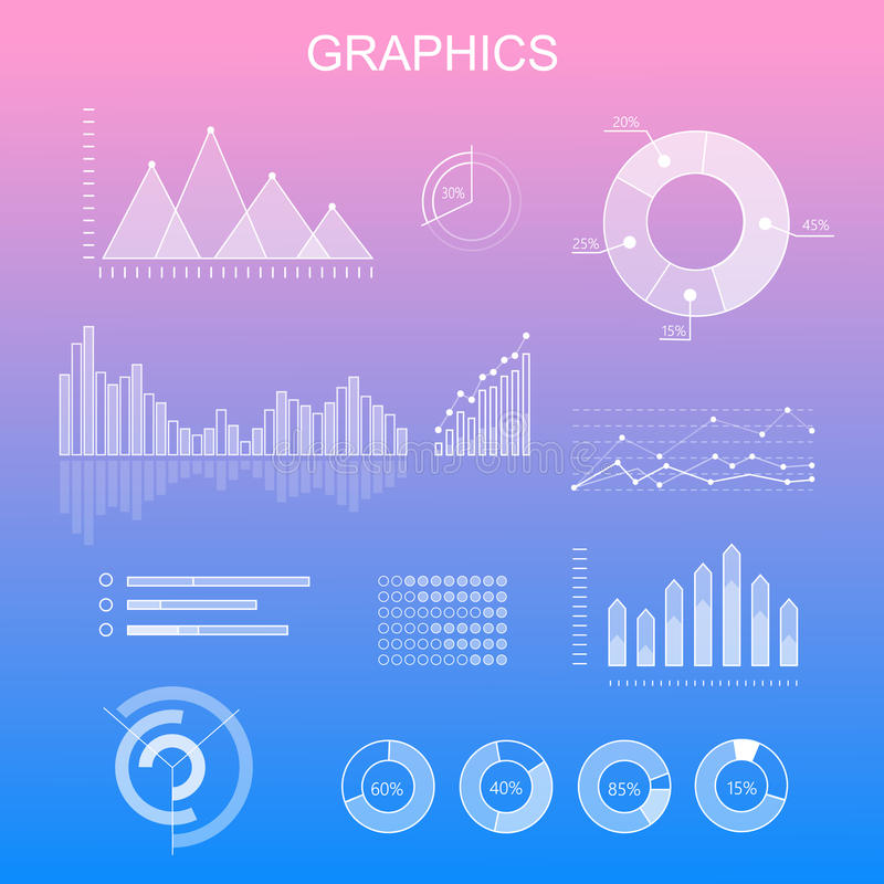 Data Tools Finance Diagram and Graphic. Chart and graphic vector, business diagram data finance, graph report, information data statistic, infographic analysis vector illustration