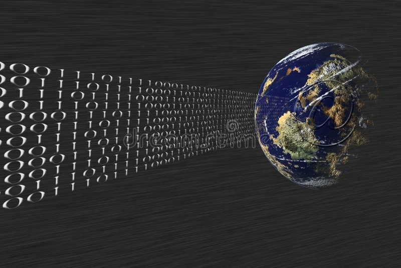 Data tranfer, mail. stock illustration