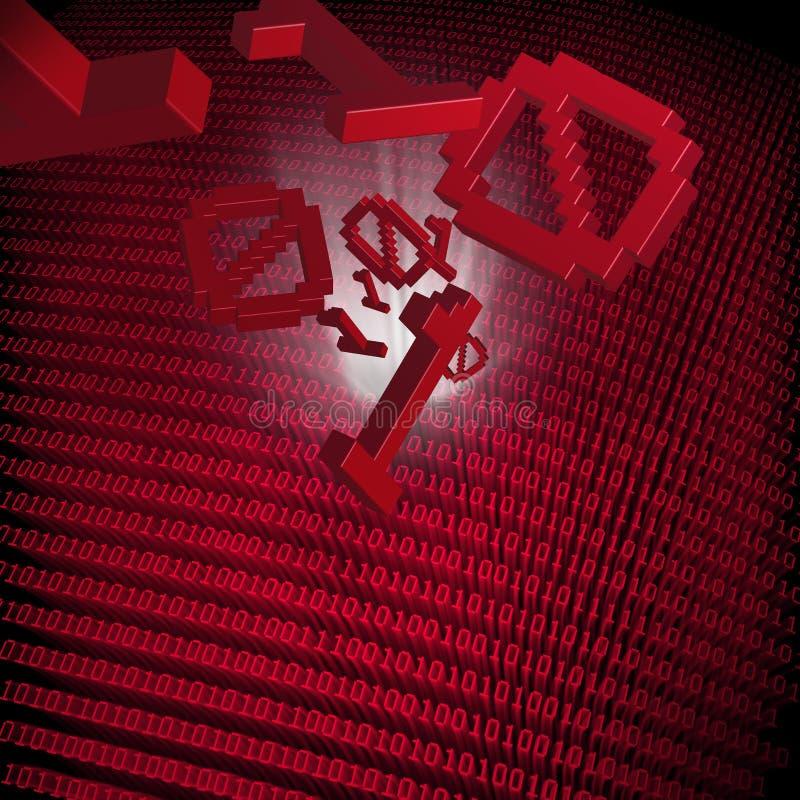 Download Data transfer stock illustration. Image of codes, data - 13558615