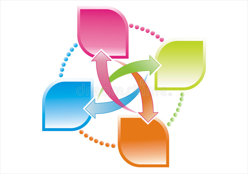 Data transfer vector illustration