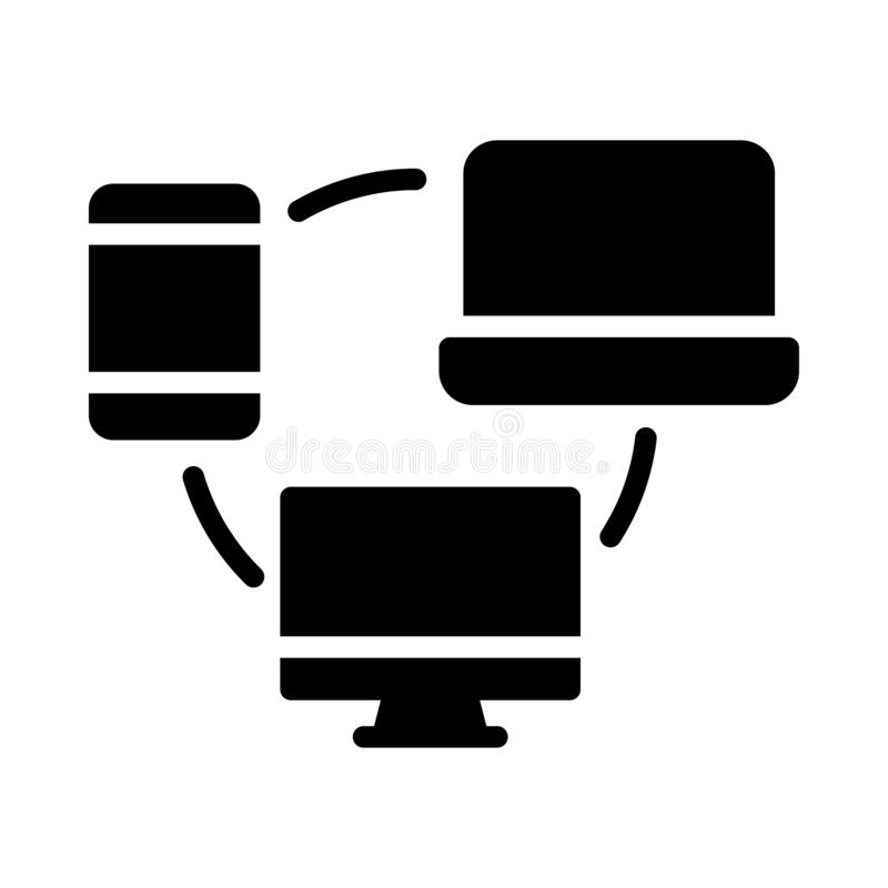 Data transfer thin linet vector icon royalty free illustration