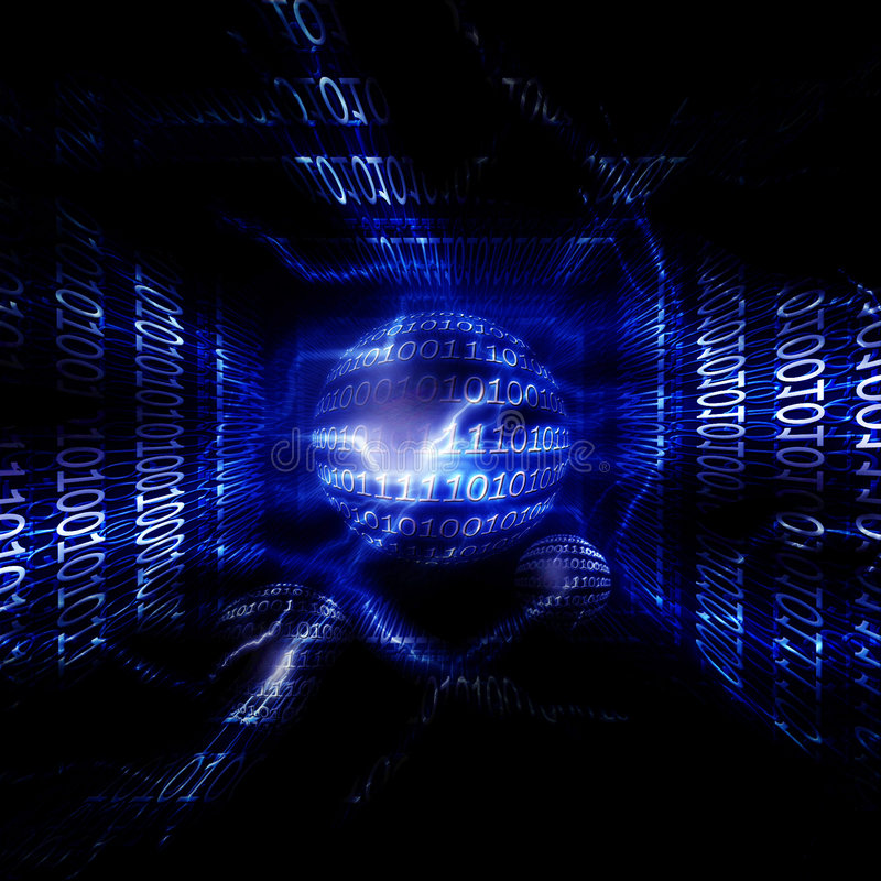 Data transmission vector illustration